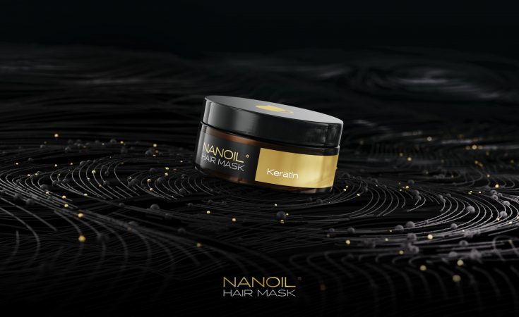 Nanoil wirksame Maske mit Keratin